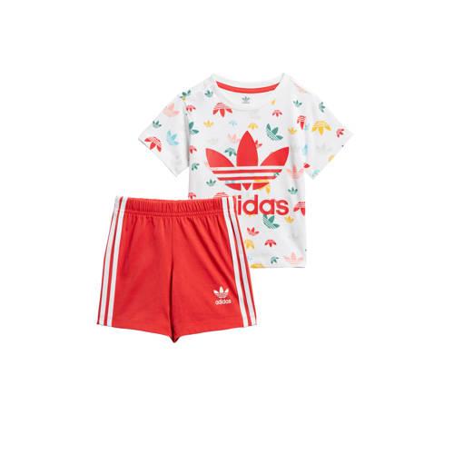 adidas Originals trainingspak rood/wit