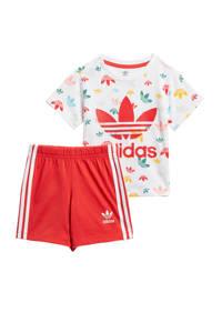 adidas Originals   trainingspak rood/wit, Rood/wit