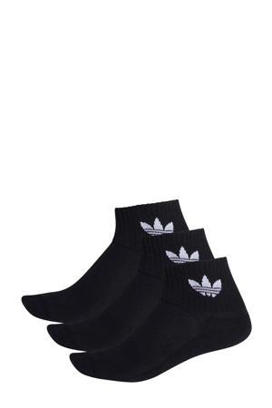 Adicolor sokken set van 3 zwart