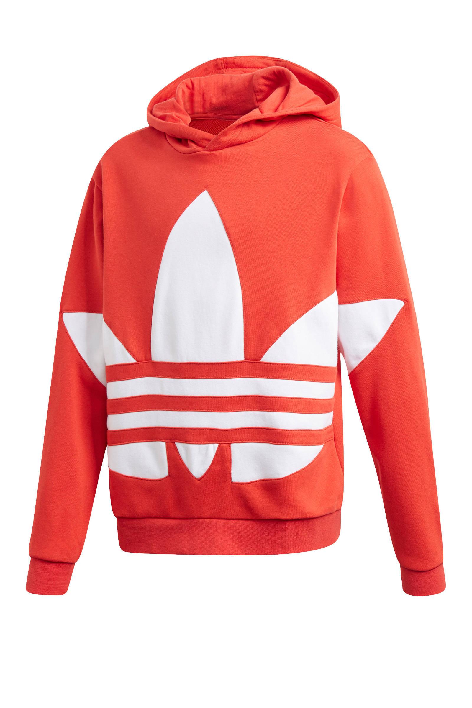 adidas Originals cropped hoodie donkerblauw | wehkamp