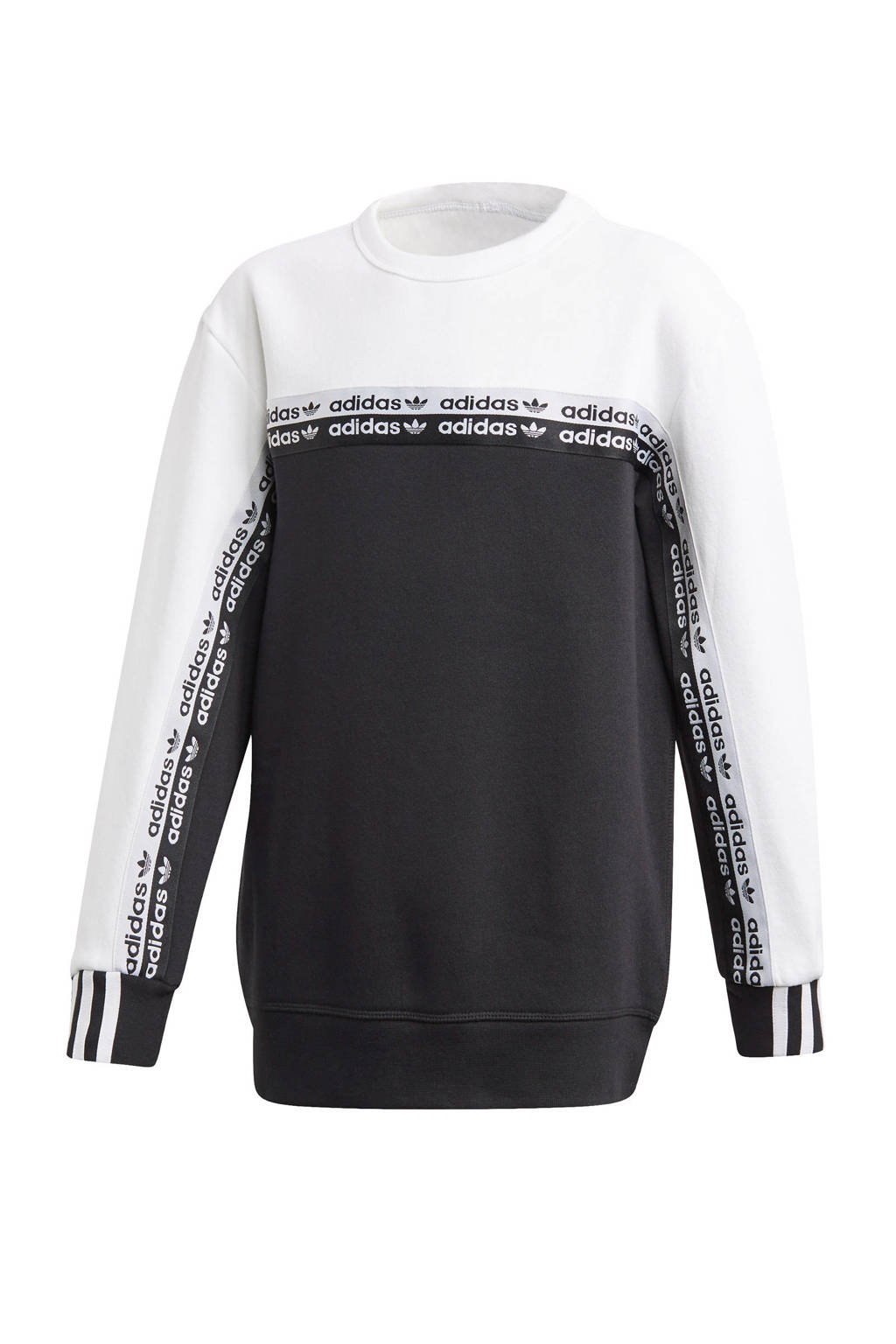 adidas Originals   sweater zwart/wit, Jongens