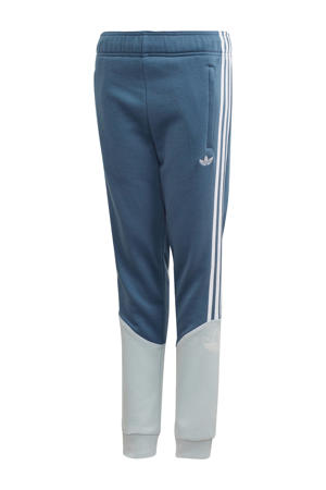 joggingbroek blauw/wit