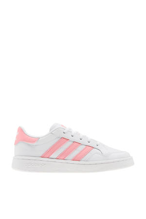 Team Court C sneakers wit/roze