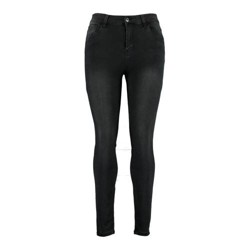 MS Mode skinny jeans donkergrijs