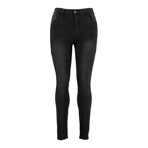 MS Mode skinny jeans donkergrijs