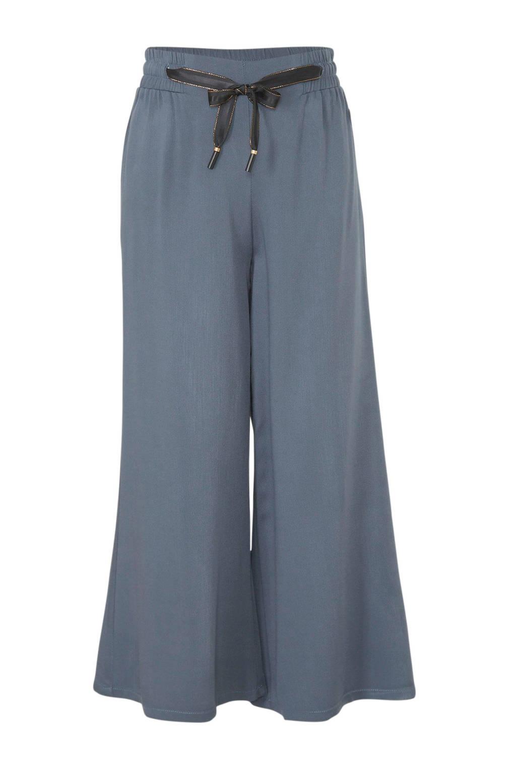 LEVV loose fit broek Flair grijsblauw/zwart/goud, Grijsblauw/zwart/goud