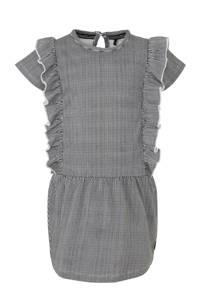 LEVV gestreepte jurk Gea zwart/wit, Zwart/wit