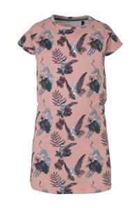 LEVV jersey jurk Gemma met all over print lichtroze/donkerblauw/wit, Lichtroze/donkerblauw/wit