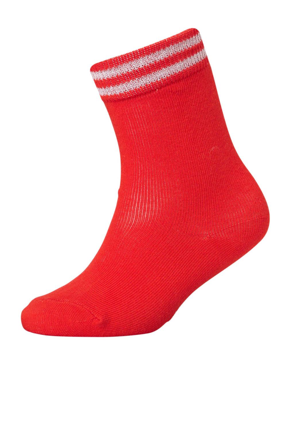 LEVV sokken rood, Rood/wit