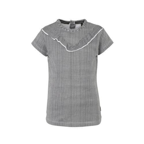 LEVV gestreept T-shirt Gill zwart/wit