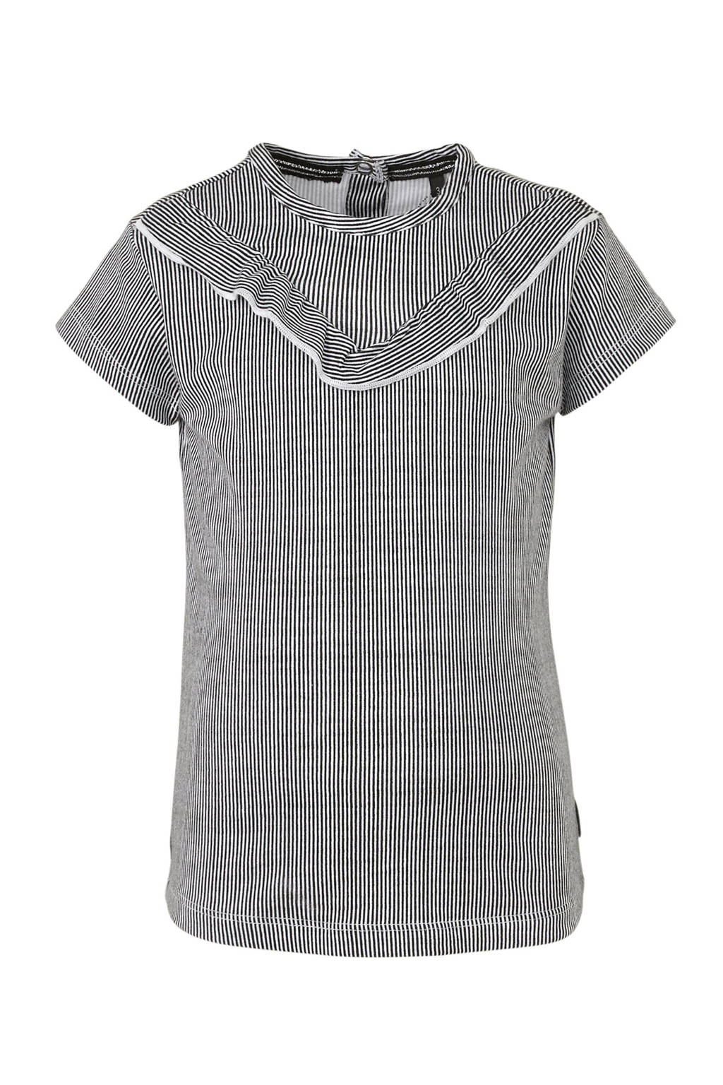 LEVV gestreept T-shirt Gill zwart/wit, Zwart/wit