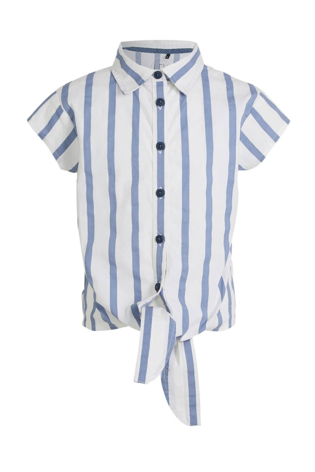 LEVV gestreepte blouse Fayla wit/zwart, Wit/zwart