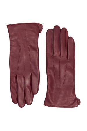 leren handschoenen donkerrood