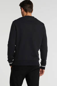 Fred Perry sweater met logo zwart, Zwart