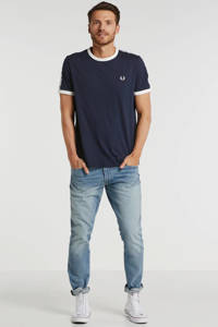 Fred Perry T-shirt met logo donkerblauw, Donkerblauw