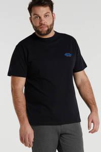 North 56°4 +size T-shirt met logo marine, Marine