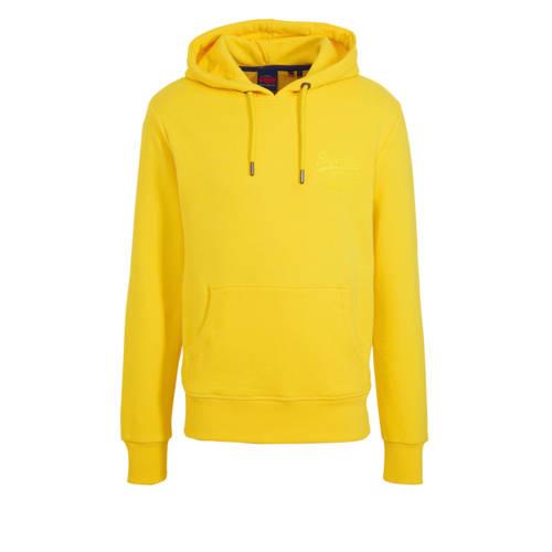 Superdry hoodie met printopdruk geel