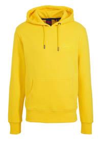 Superdry hoodie met printopdruk geel, Geel