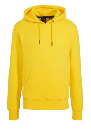 hoodie met printopdruk geel