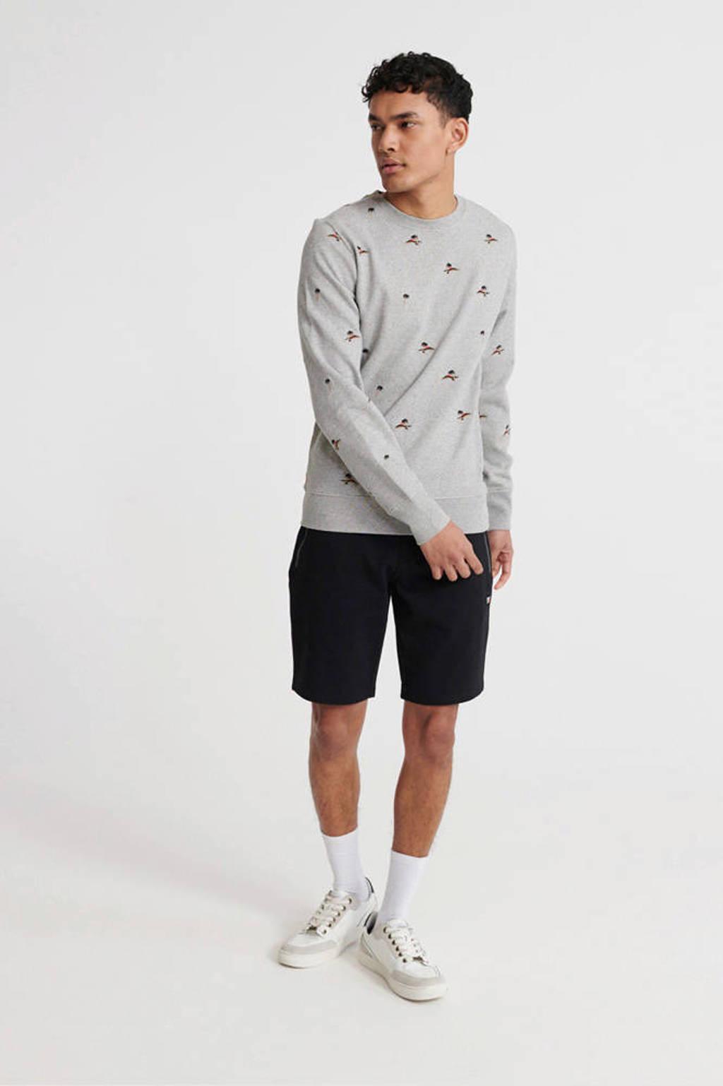 Superdry sweater met all over print lichtgrijs, Lichtgrijs