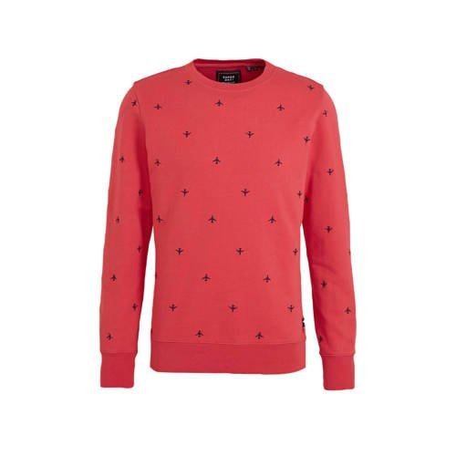 Superdry sweater met all over print roze