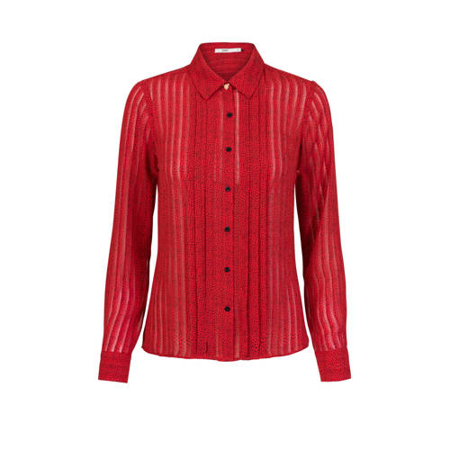 Steps semi-transparante blouse met hartjes rood