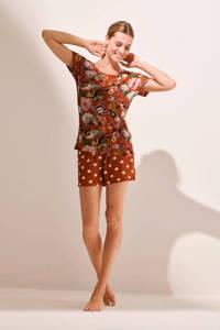 Essenza pyjamatop Ellen Filou bruin, Bruin