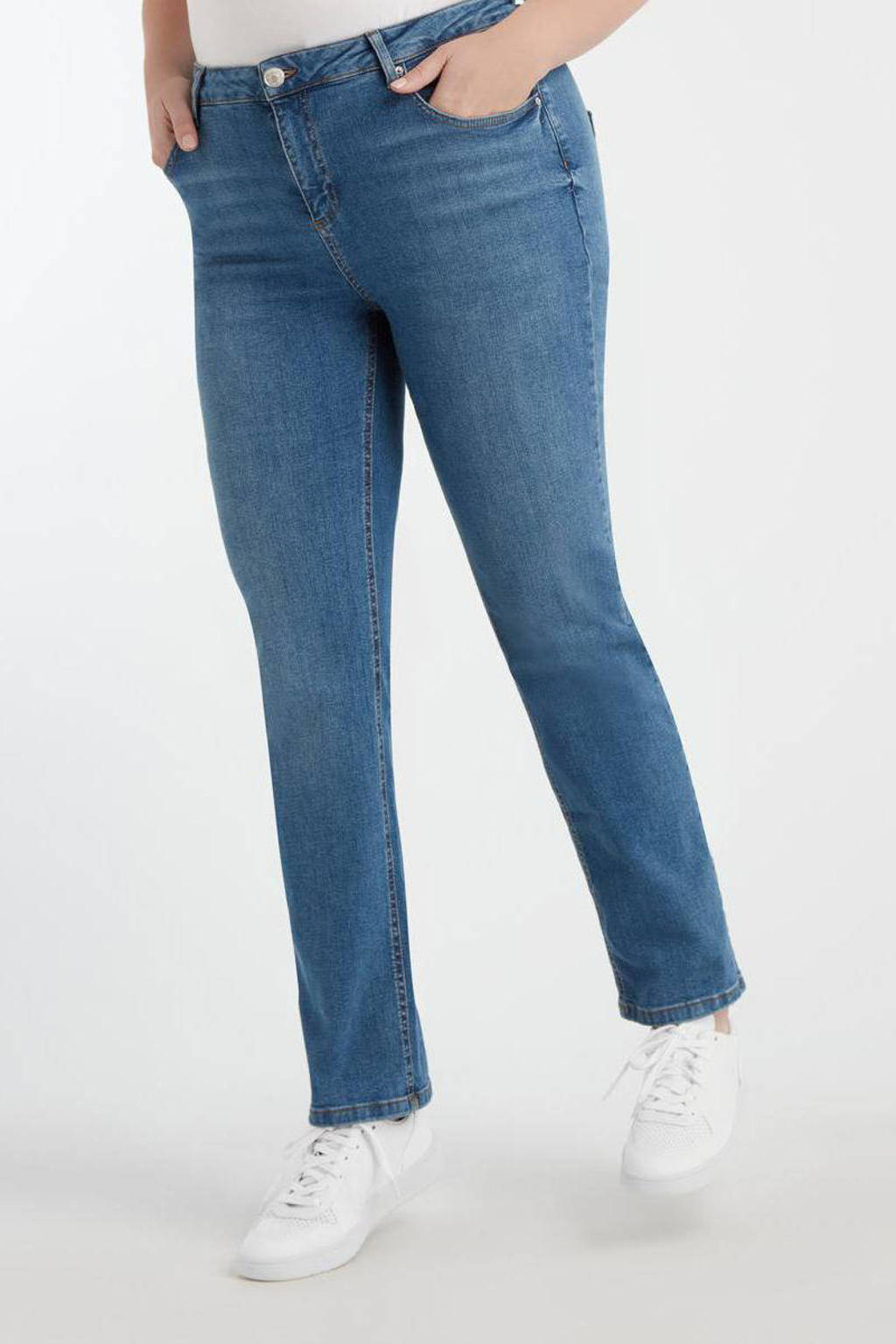 MS Mode straight fit jeans blauw, Blauw