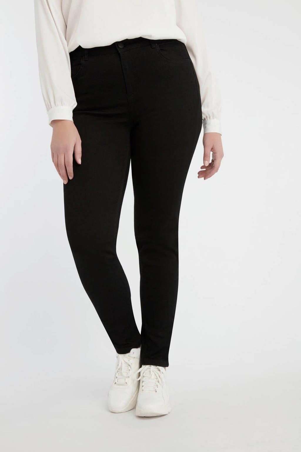 MS Mode slim fit jeans zwart, Zwart