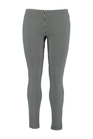 legging met pied-de-poule zwart/wit