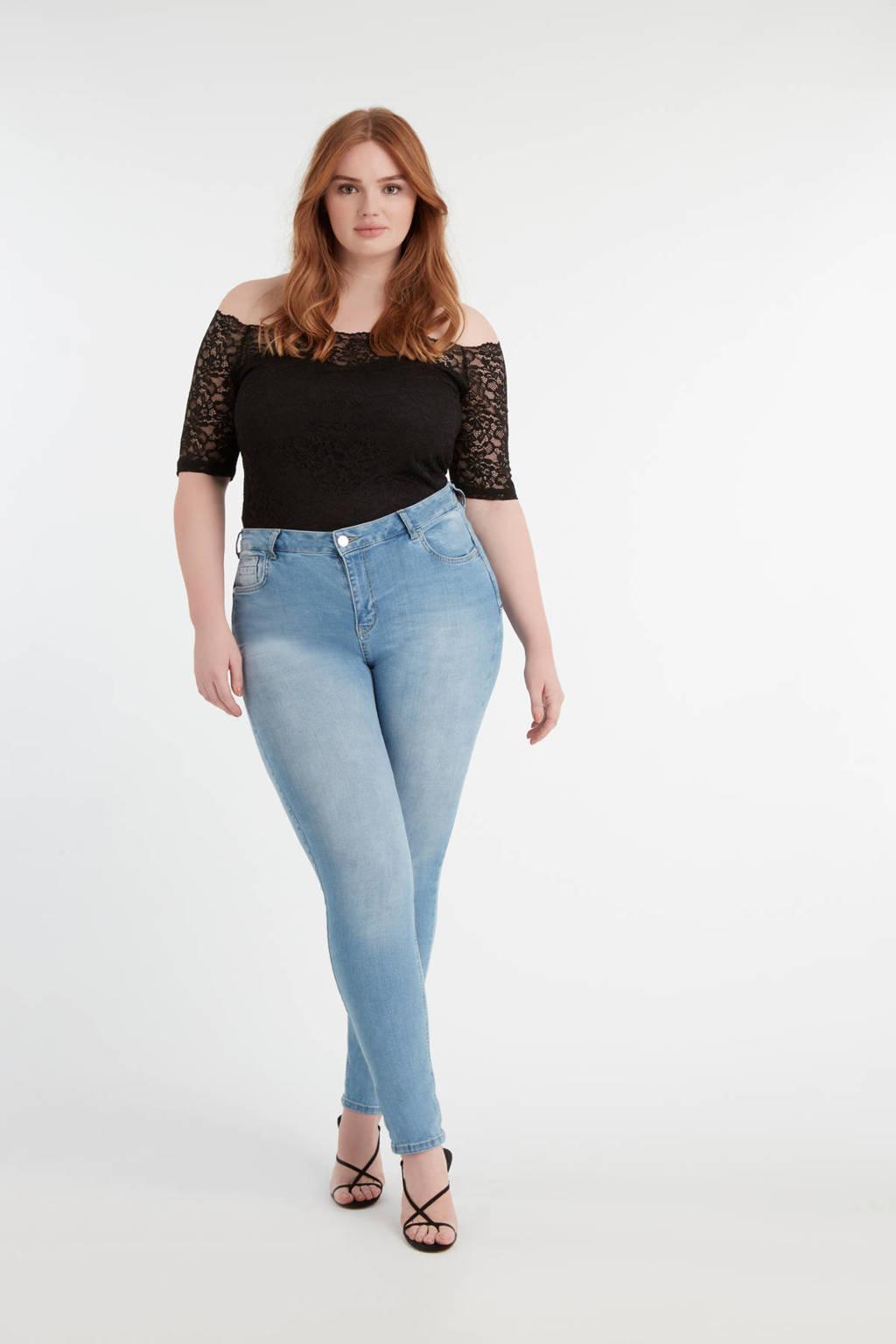 MS Mode slim fit jeans lichtblauw, Lichtblauw
