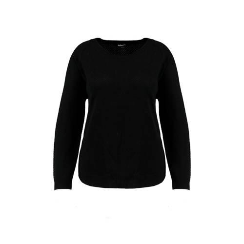 MS Mode trui met textuur zwart