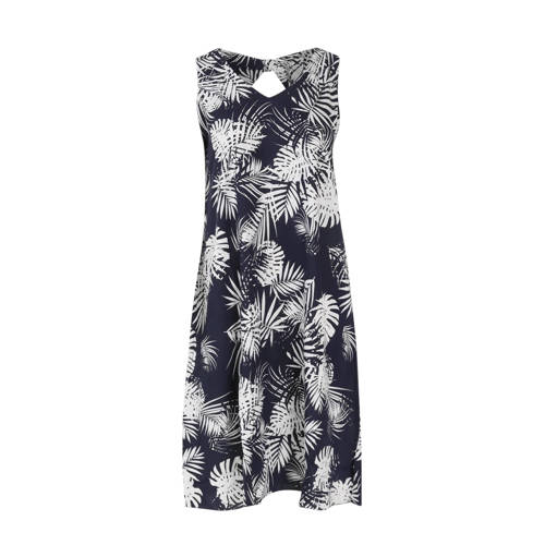 Paprika jurk met all over print blauw