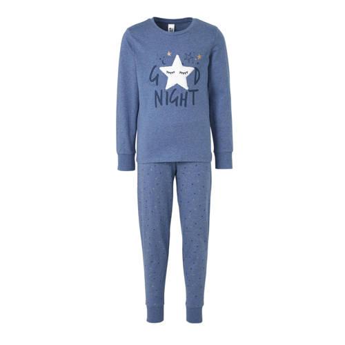 C&A Here & There pyjamabroek en longsleeve lichtblauw-donkerblauw-goud