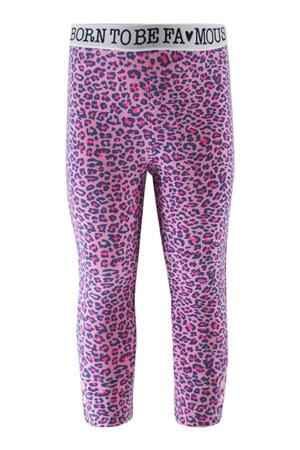 baby legging met panterprint roze/fuchsia/donkerblauw