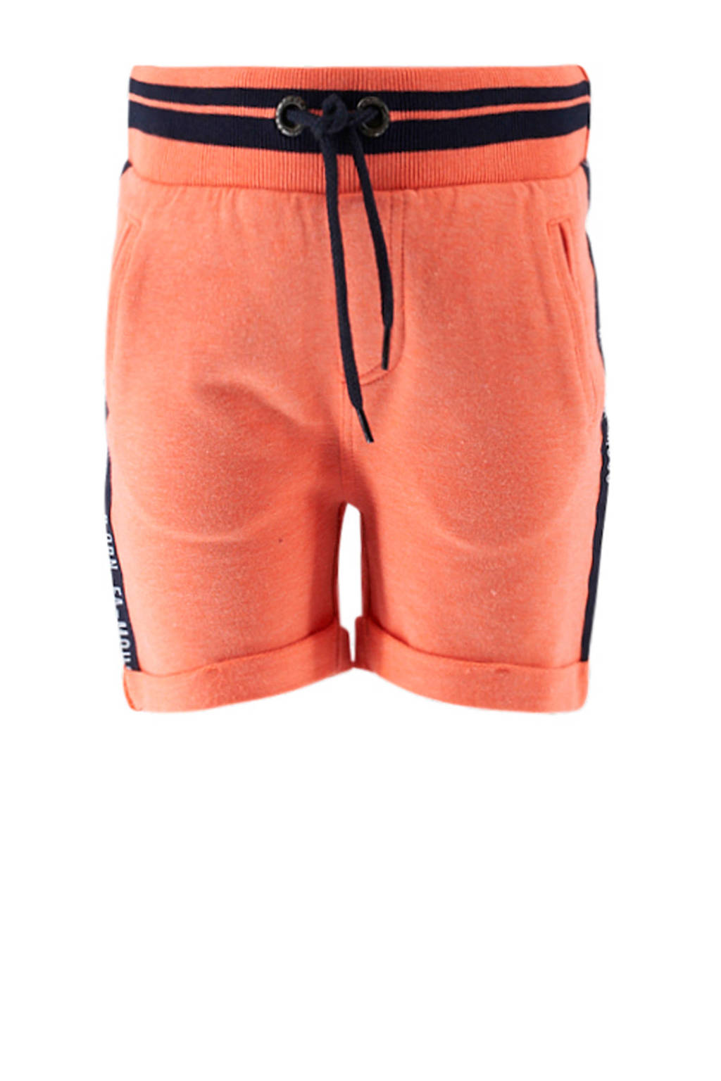 born to be famous. baby sweatshort oranje/zwart, Oranje/zwart