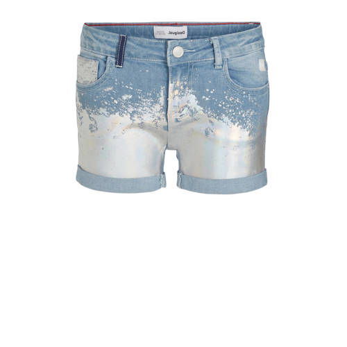 Desigual jeans short met printopdruk light denim/z
