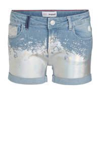 Desigual jeans short met printopdruk light denim/zilver, Light denim/zilver