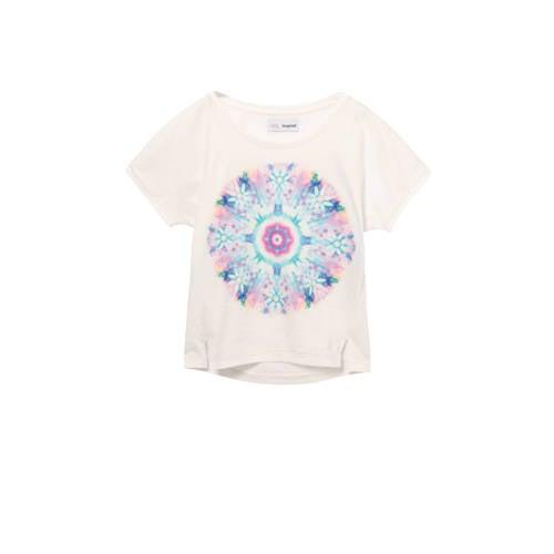 Desigual T-shirt met printopdruk en open detail ec