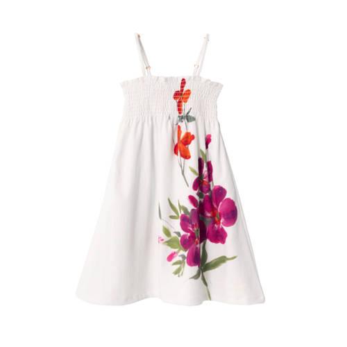 Desigual jurk met printopdruk wit/paars