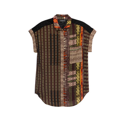 Desigual blouse met all over print oranje