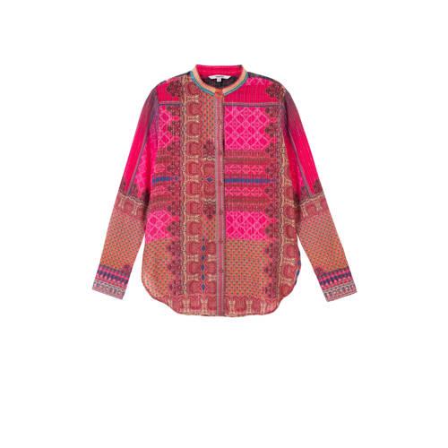 Desigual blouse met paisleyprint en borduursels ro