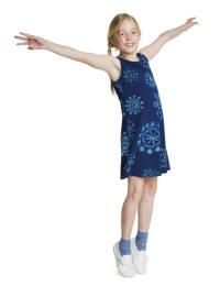 Desigual A-lijn jurk met all over print donkerblauw//blauw, Donkerblauw//blauw