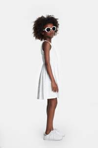 Desigual gebloemde A-lijn jurk wit, Wit