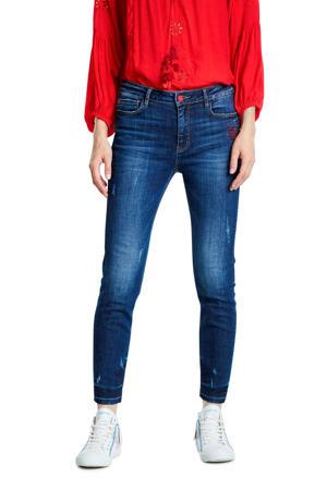 skinny jeans embroidered heart met borduursels denim dark