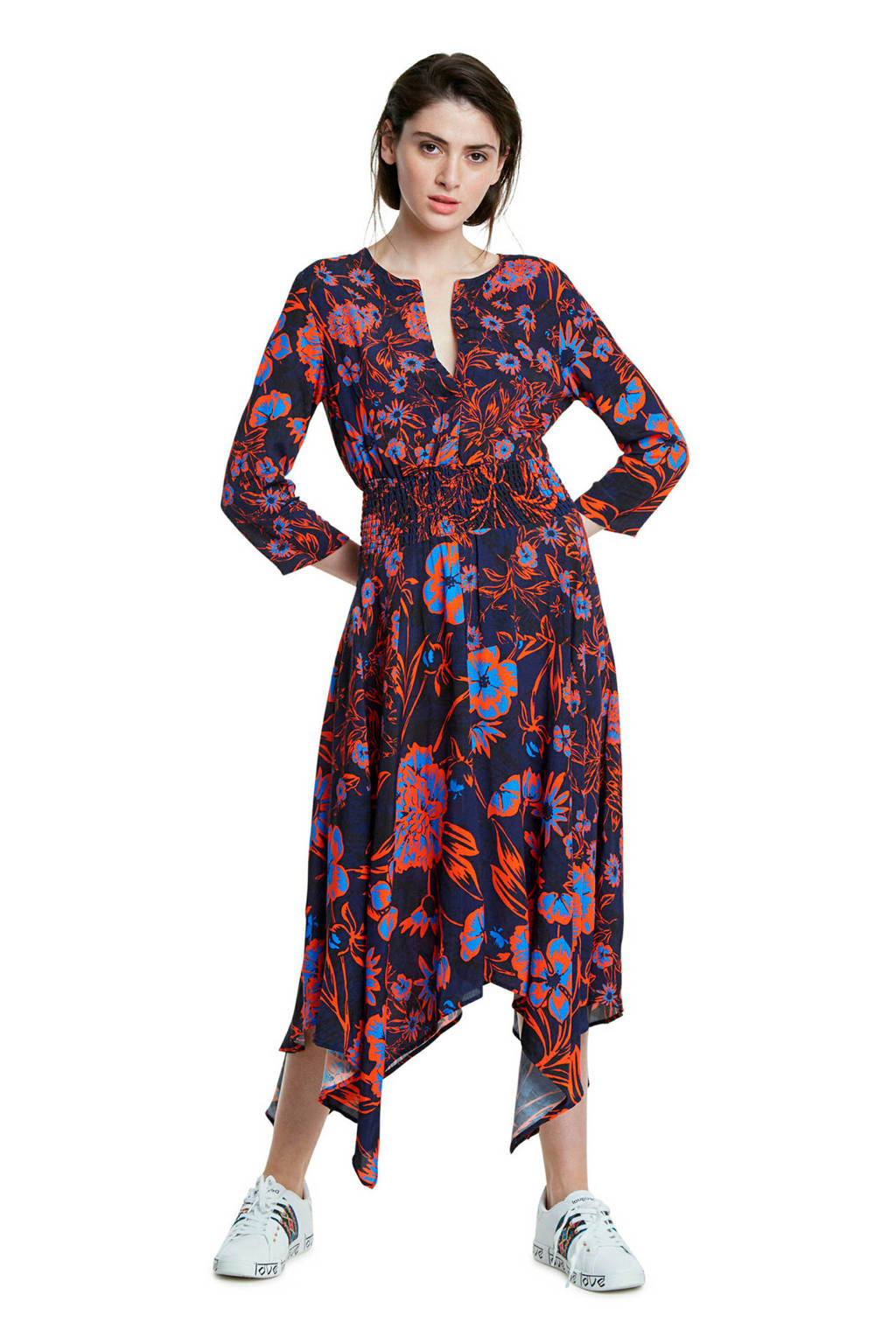Desigual maxi jurk met all over print multicolor, Multicolor