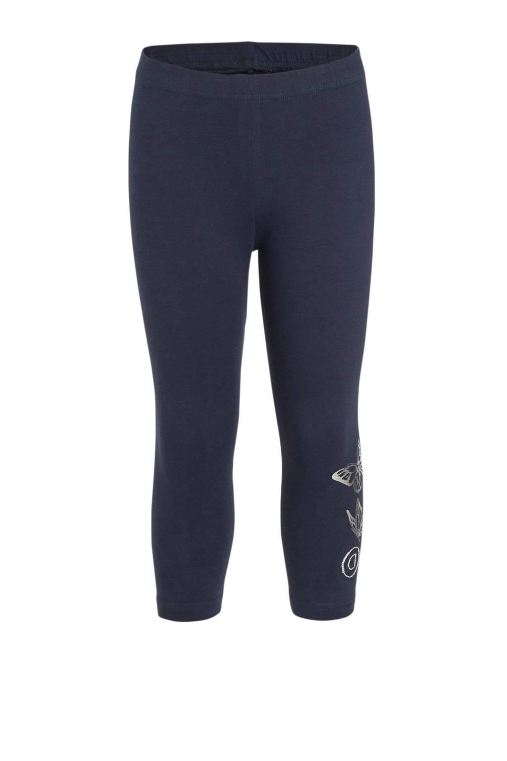 Desigual legging met printopdruk en pailletten donkerbauw/zilver, Donkerbauw/zilver