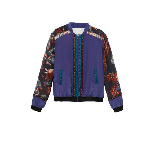 Desigual jasje met all over print blauw