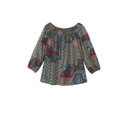 Desigual off shoulder top met all over print multi
