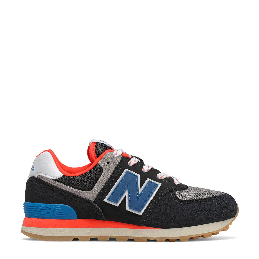 New Balance 574  sneakers zwart/blauw/rood, Zwart/blauw/rood